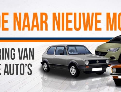 evolutie iconische auto's retro