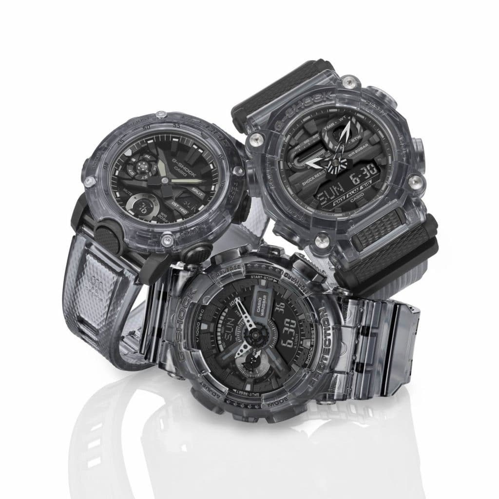 G-SHOCK BLACK & WHITE Skeleton Horloges