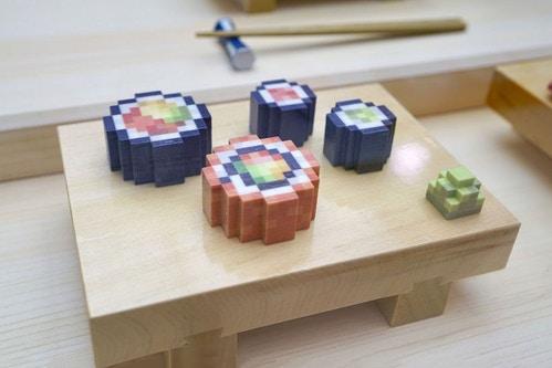 3D-geprint eten food sushi