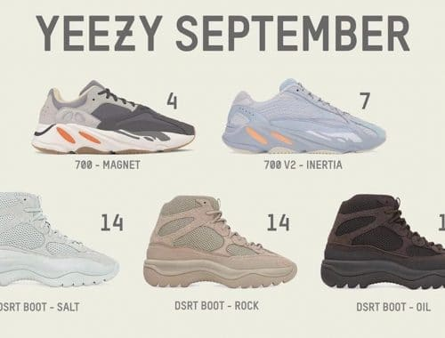 Alle YEEZY-sneaker september-releases