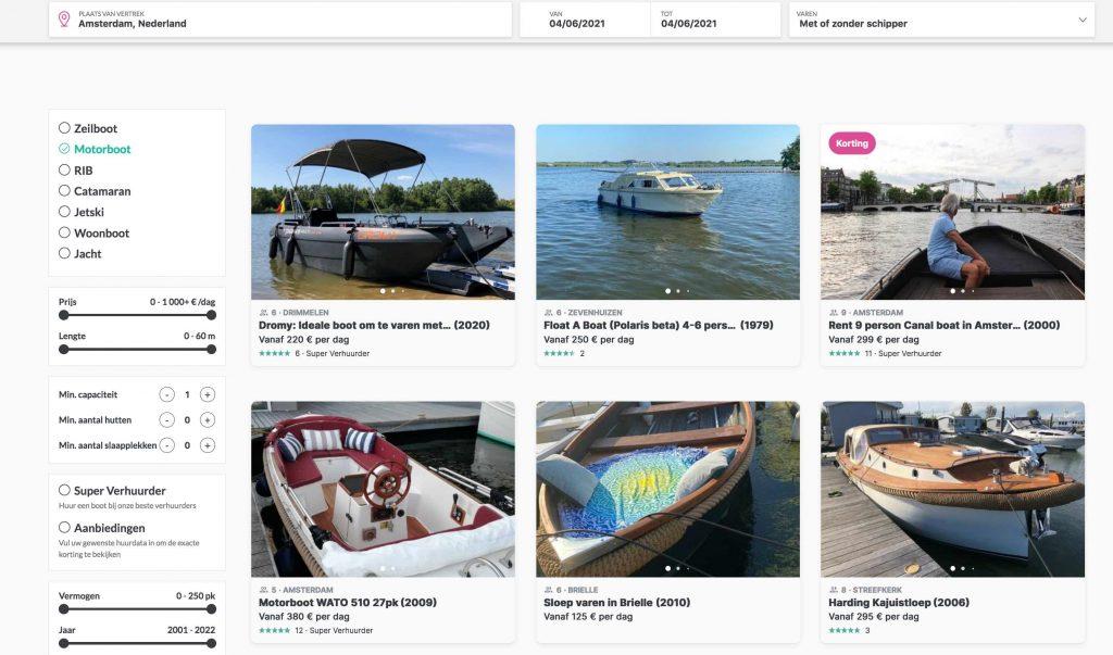 Click&Boat bootverhuurplatform - Airbnb voor boten