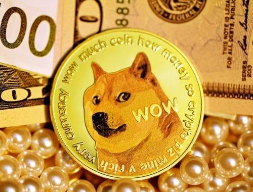 Dogecoin Jackson Palmer cryptocurrency in handen van rijke figuren kartel