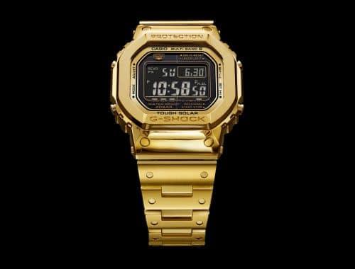 18K gouden G-Shock G-D5000-9JR horloge casio