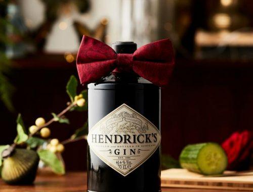 Limited edition Hendrick's Gin geschenkfles bow tie