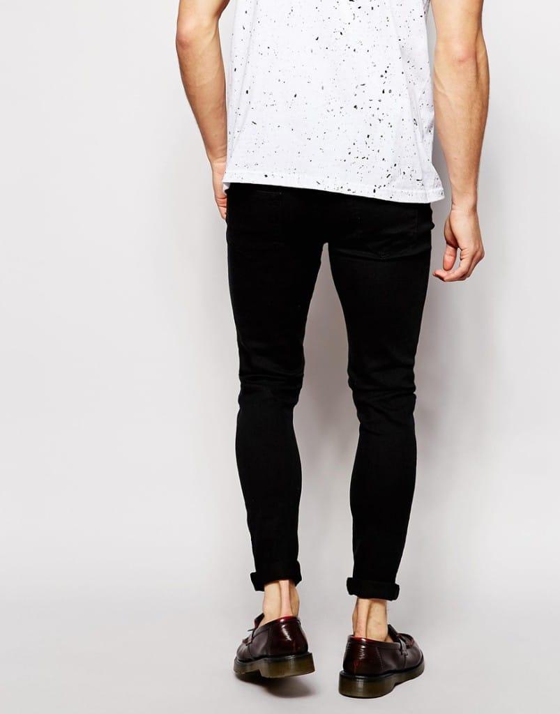 Mannenstyle-online-bestellen-herenkleding-fashion Reclaimed Vintage Super Skinny Jeans met gaten 2