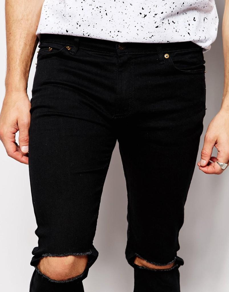 Mannenstyle-online-bestellen-herenkleding-fashion Reclaimed Vintage Super Skinny Jeans met gaten 3