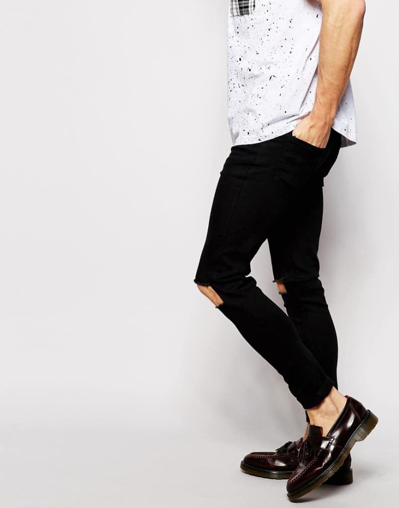 Mannenstyle-online-bestellen-herenkleding-fashion Reclaimed Vintage Super Skinny Jeans met gaten 4