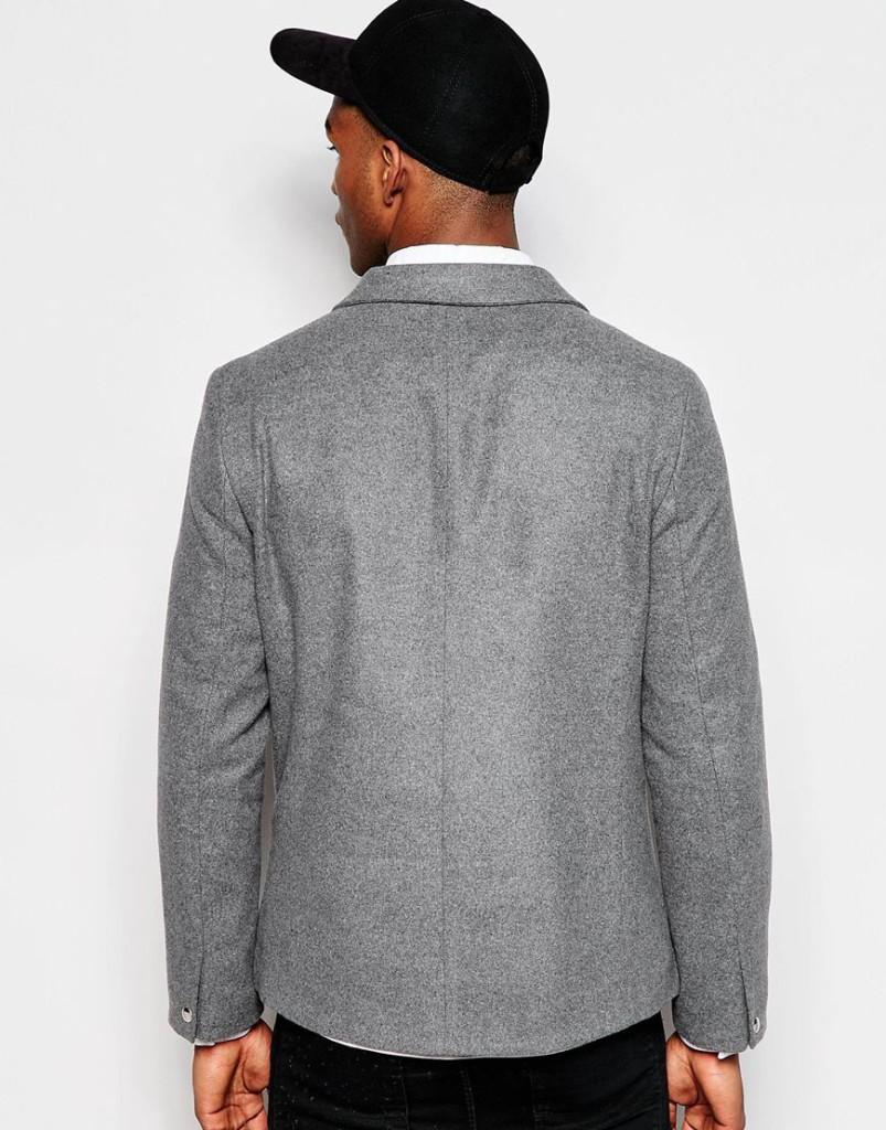 Mannenstyle-online-bestellen-herenkleding-fashion Slim Blazer met Biker Styling 2