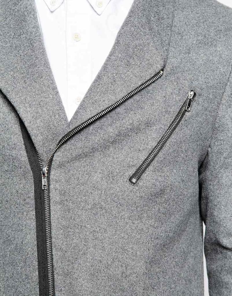 Mannenstyle-online-bestellen-herenkleding-fashion Slim Blazer met Biker Styling 3