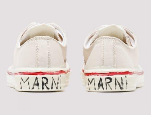 Marni Canvas Sneaker GOOEY graffiti low-top sneaker
