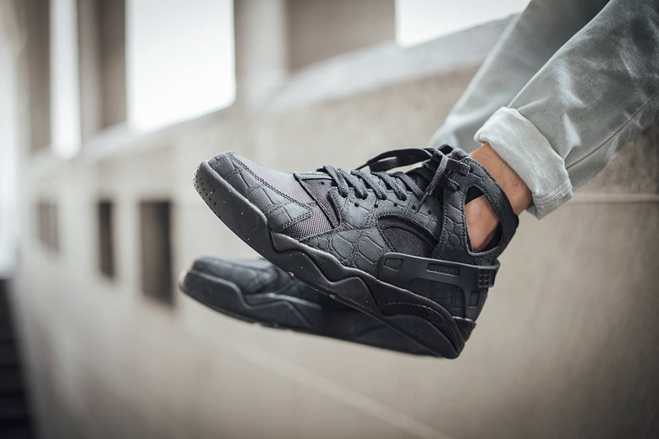 best loved 30609 a1d43 Nike Air Flight Huarache Black Croc Suede sneaker