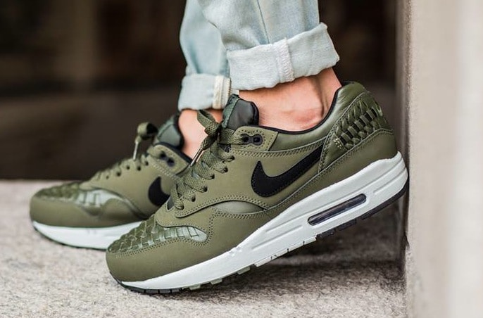Nike Air Max 1 Woven 'Carbon Green' Sneakers Online Mannenstyle 2
