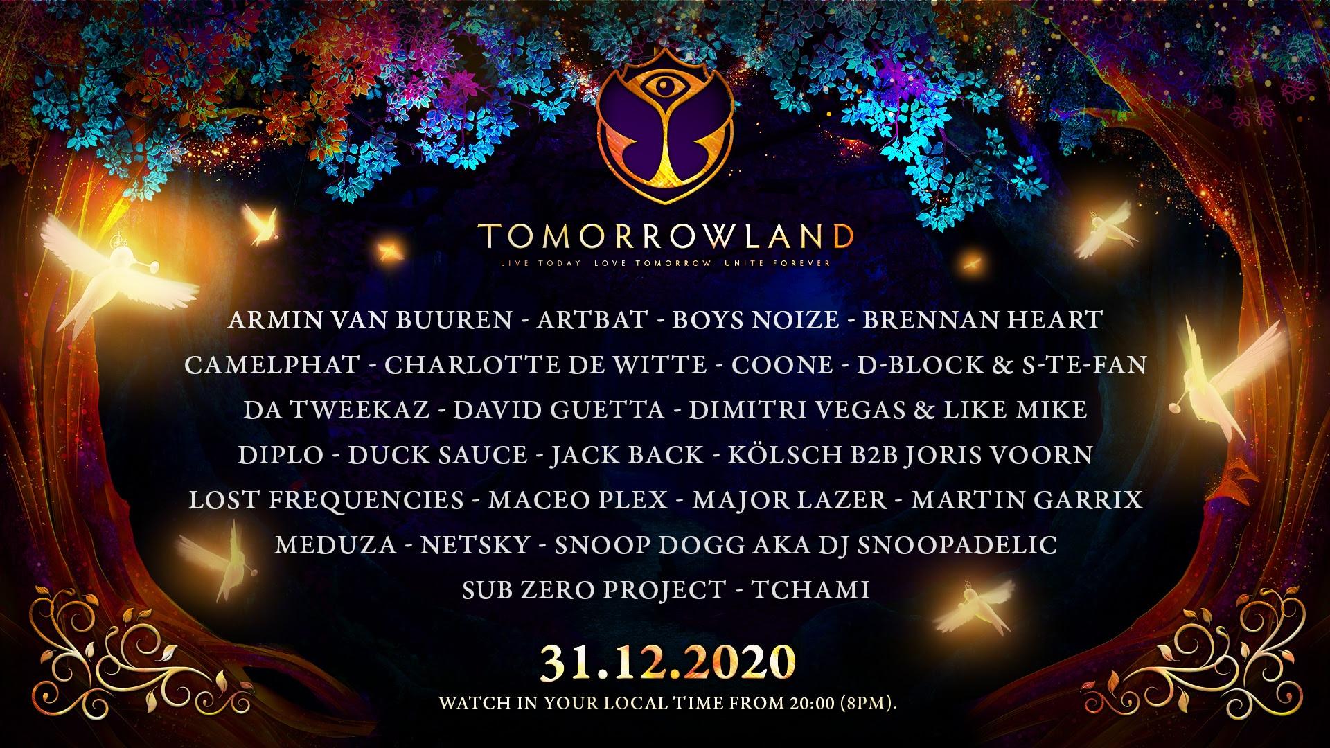 Oudejaarsfeest Tomorrowland 31.12.2020