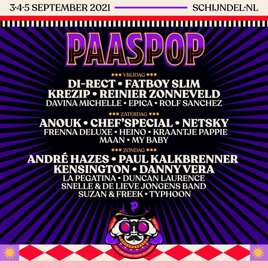 Paaspop 2021 line up