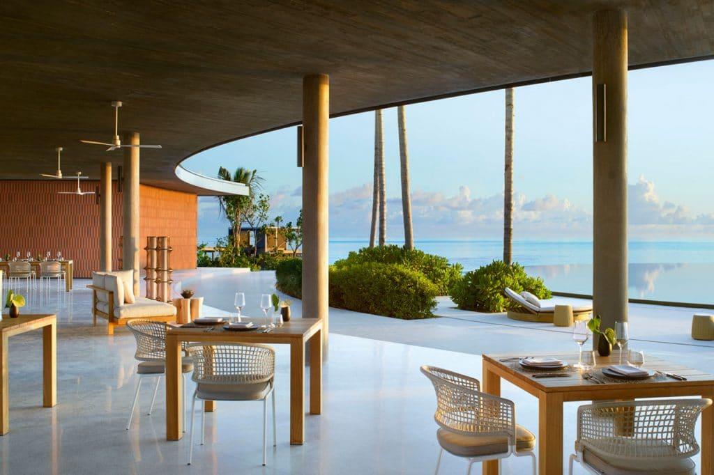 The Ritz-Carlton resort op de Malediven