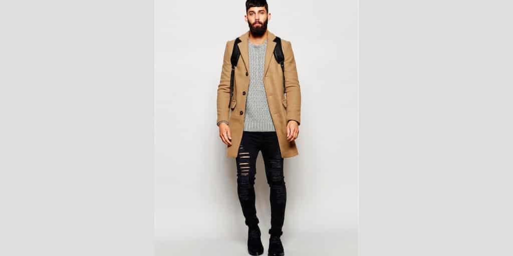 Shop de complete look! lange camel wollen herenjas online bestellen mannenstyle