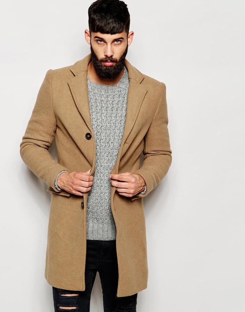 Shop de complete look! lange camel wollen herenjas online bestellen mannenstyle 1
