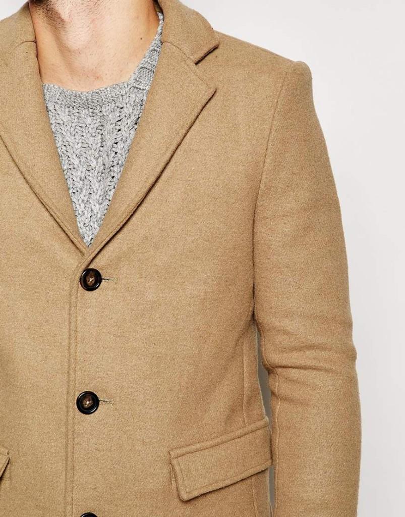 Shop de complete look! lange camel wollen herenjas online bestellen mannenstyle 2