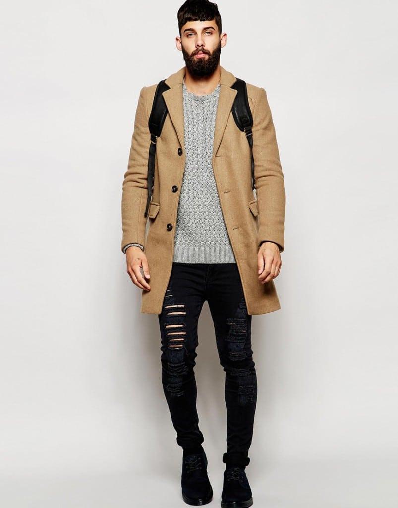 Shop de complete look! lange camel wollen herenjas online bestellen mannenstyle 7