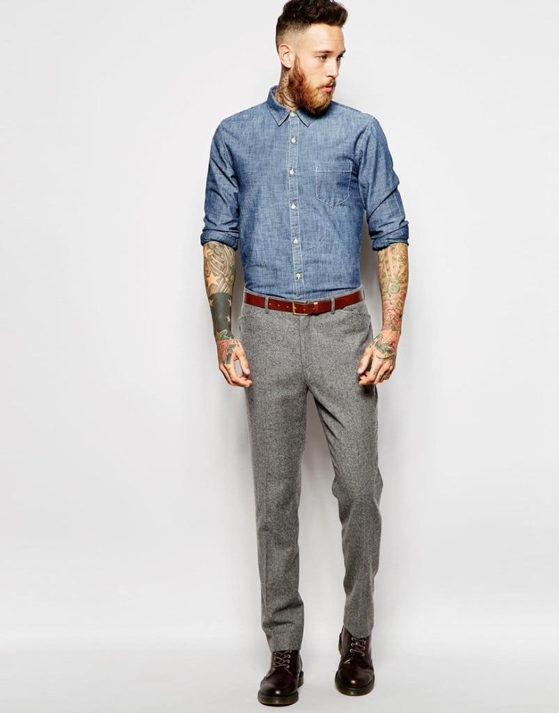 bruine korte broek