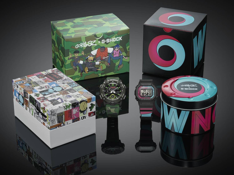 Tweede limited edition 2019 Gorillaz x G-Shock collectie horloges