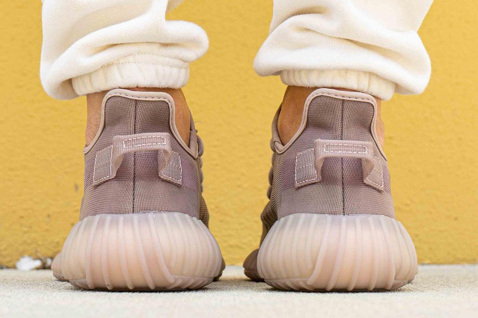 "adidas YEEZY BOOST 350 V2 ""Mono Mist"" on foot"
