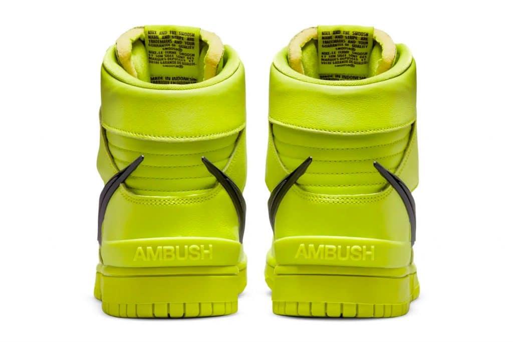 "AMBUSH x Nike Dunk High ""Flash Lime"""