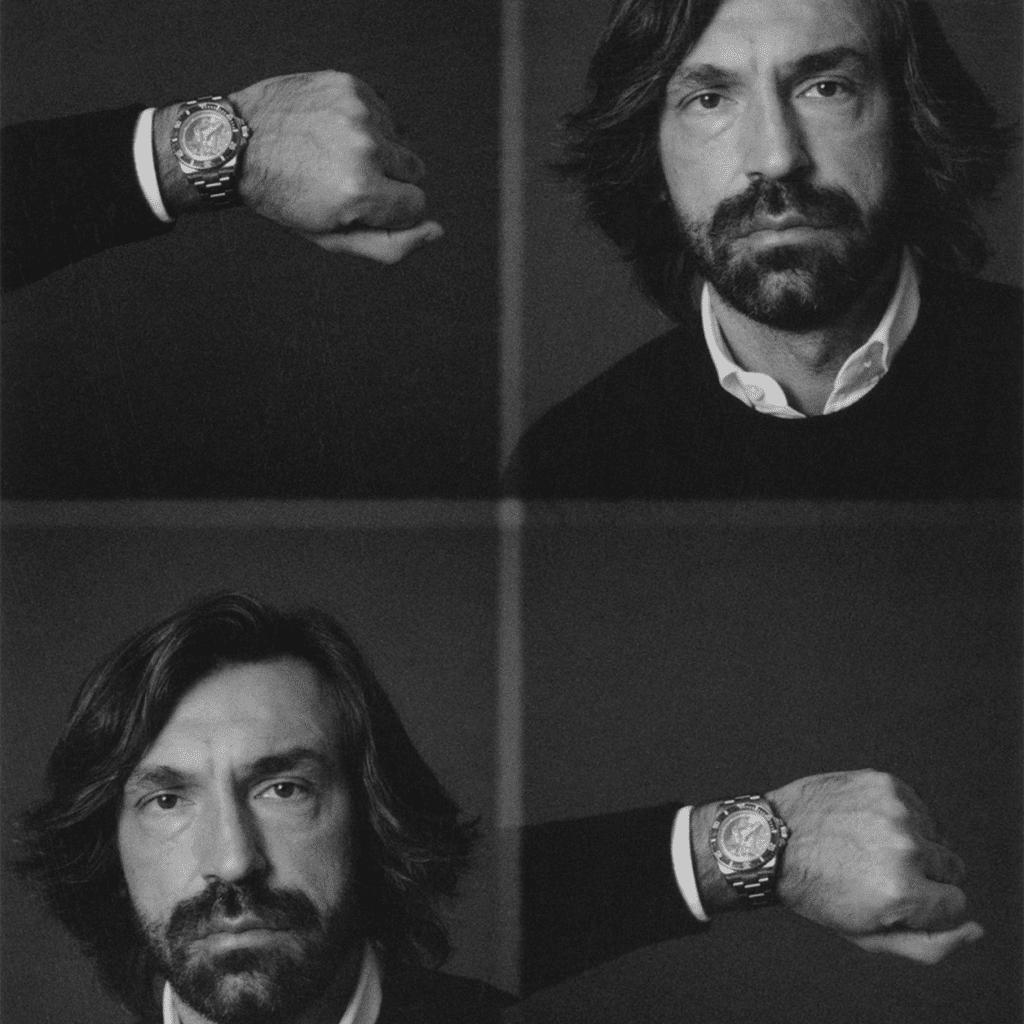 andrea pirlo custom rolex horloge Artisans De Genève