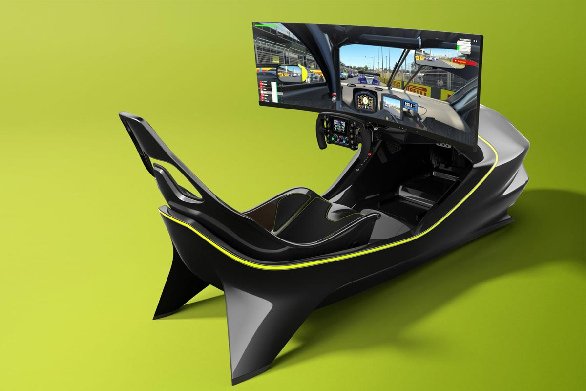 Aston Martin AMR-C01 racing simulator