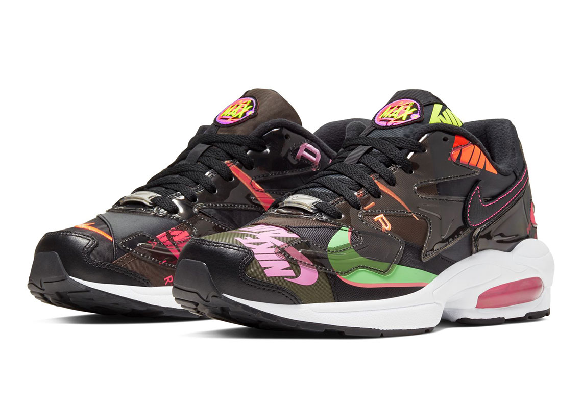 atmos x Nike Air Max2 Light Black onderweg | MANNENSTYLE