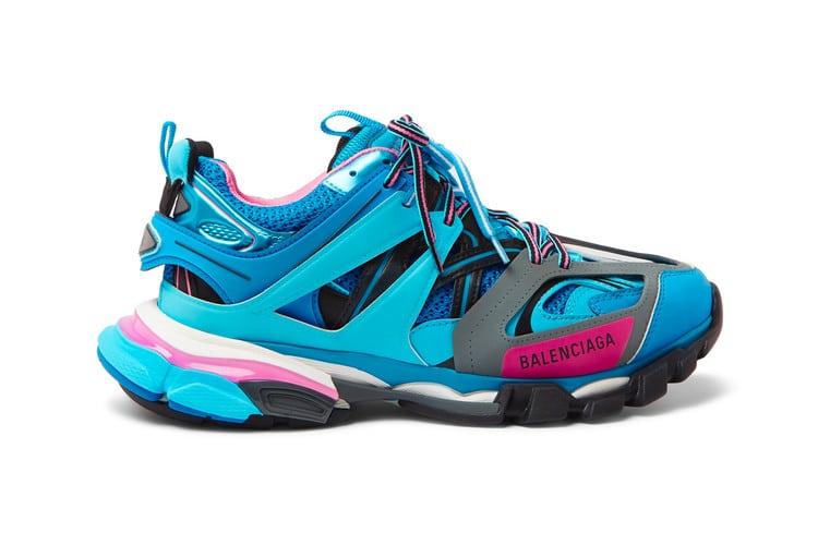 Balenciaga TRACK trainer blue pink
