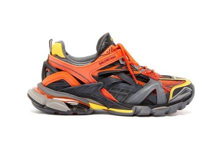 "Nieuwe Balenciaga Track.2 ""Orange/Yellow/Grey"" sneaker"