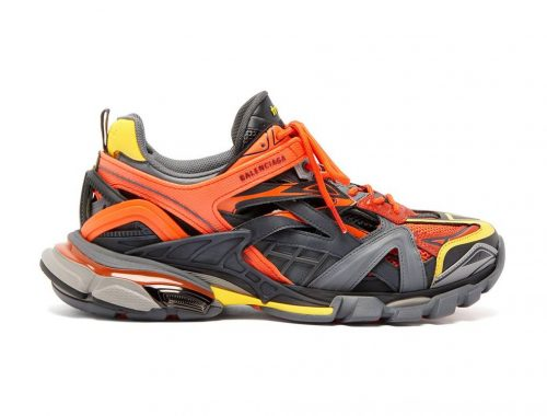 "Nieuwe Balenciaga Track.2 ""Orange/Yellow/Grey"" sneaker"