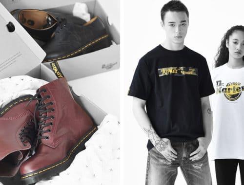 Bape x Dr. Martens lookbook boots 2018