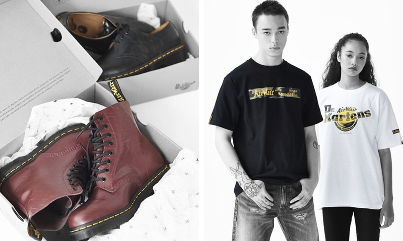 Nieuwe Collectie Kleding.Bape X Dr Martens Collectie Kleding Boots Onthuld Mannenstyle