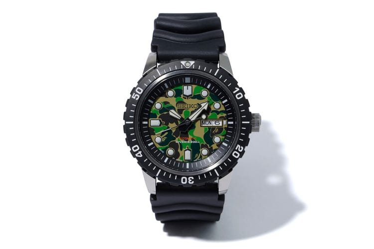 BAPE x Seiko Mechanical Diver's Watch