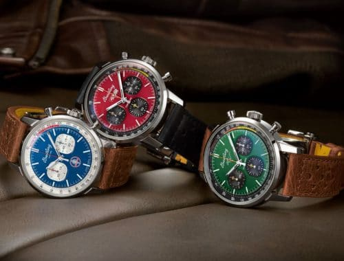 Trio Breitling Top Time Chronograph geïnspireerd door Amerikaanse muscle cars uit jaren 60