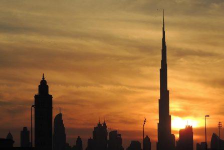 burj khalifa at the top sunrise