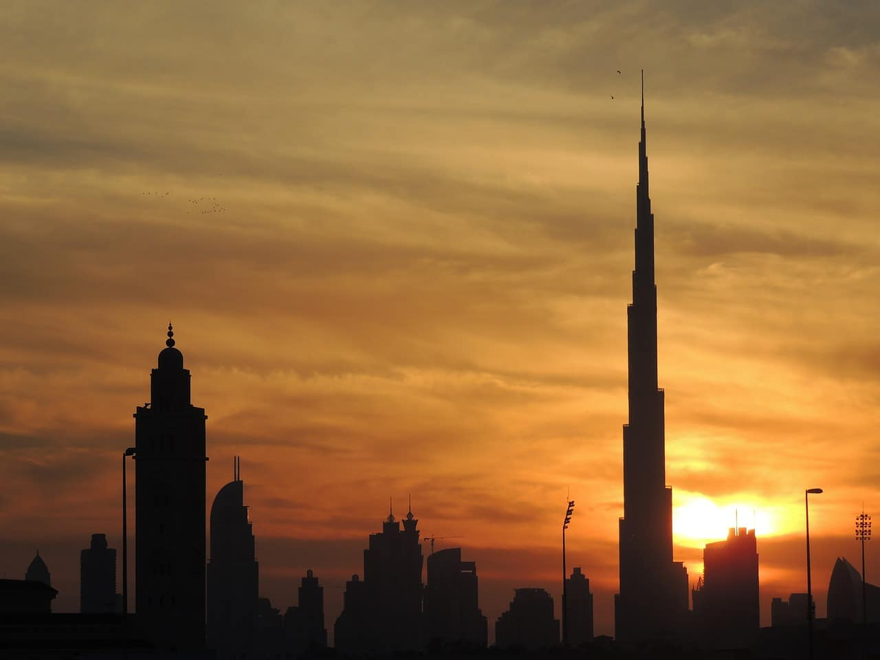burj khalifa at the top sunrise