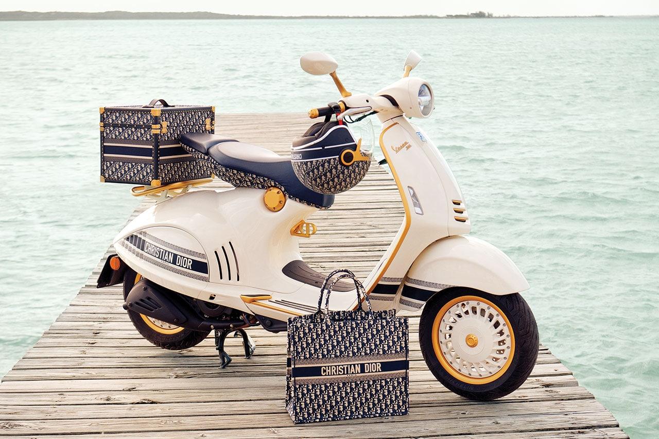 Dior x Vespa 946 scooter