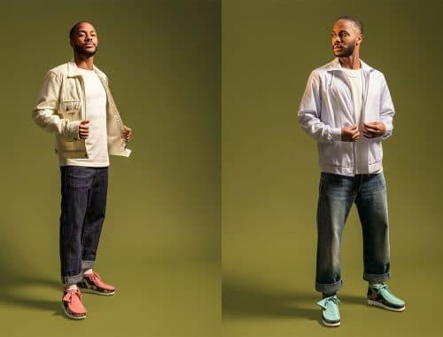Raheem Sterling - BAPE x Clarks Originals schoenen