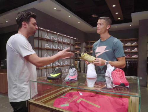 Cristiano Ronaldo shopt sneakers video