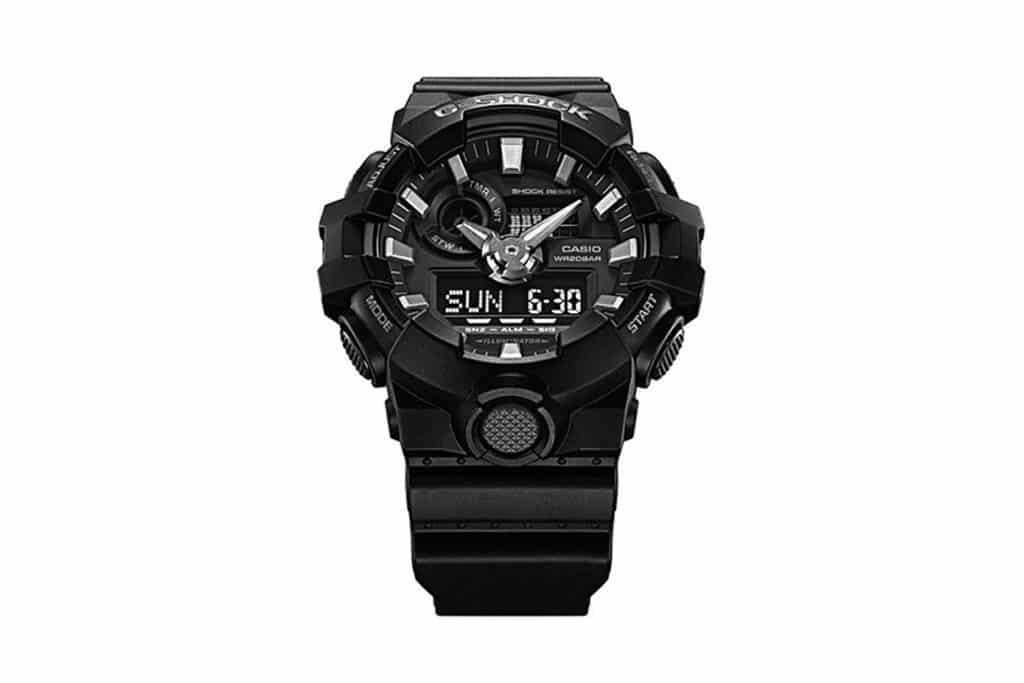 G Shock Zwart Met Rood.G Shock Ga700 Horloge Zwart Rood