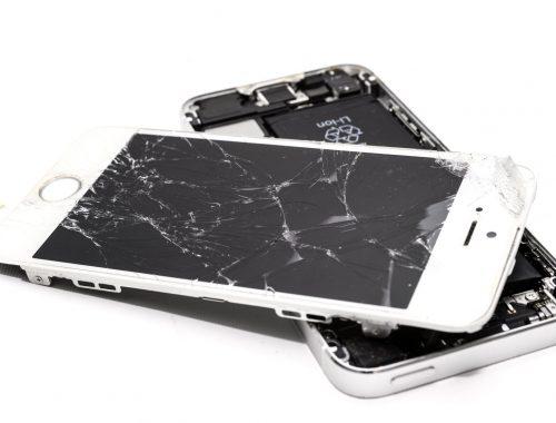 gebroken scherm telefoon maken