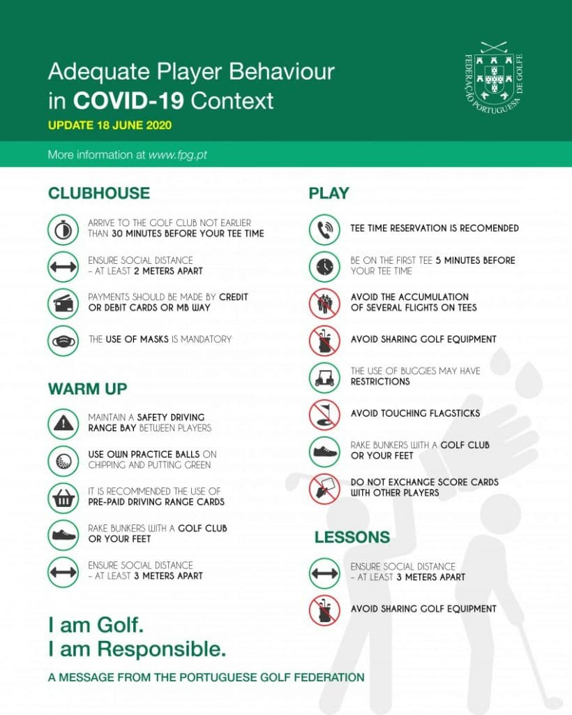 Golf in Portugal COVID-19