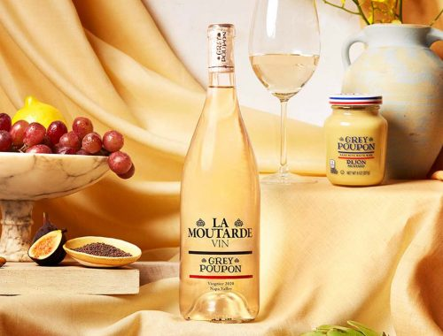 Grey Poupon La Moutarde Vin: volle viognier witte wijn met mosterdzaad