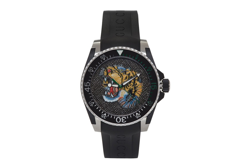 Gucci Black Tiger Diver Watch