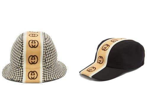 "Gucci Intarsia ""GG"" Stripe Cap & bucket hat"