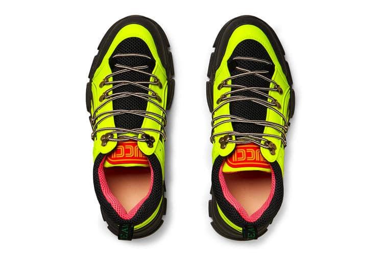 Gucci Flashtrek Boot neon green