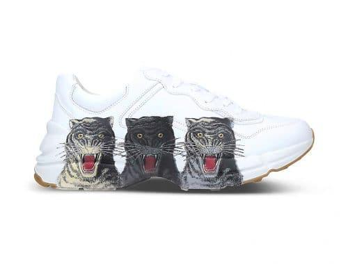 Gucci Rhyton Triple Tiger Print sneaker